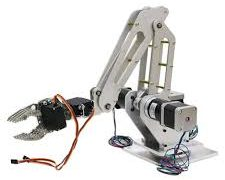 robotic arm gripper+base axis with motors