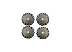 A set of EasyMech 152mm Aluminium Mecanum wheels (Bearing type rollers)-(4 pieces)